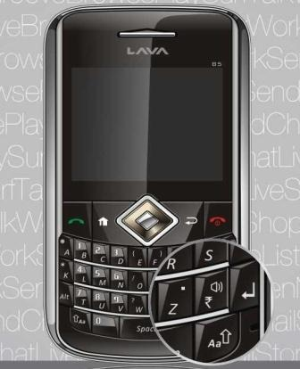 Lava B5 Mobile Handset with Indian Rupee Symbol
