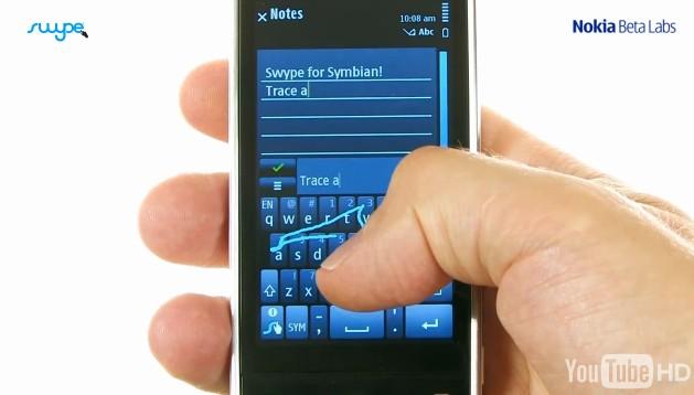 Swype for Nokia Phones - Symbian