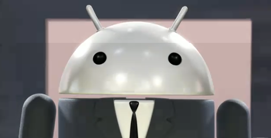 Android Mascot sporting Armani Suit