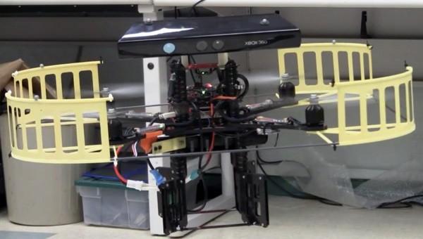 Kinect atop a Quadrocopter