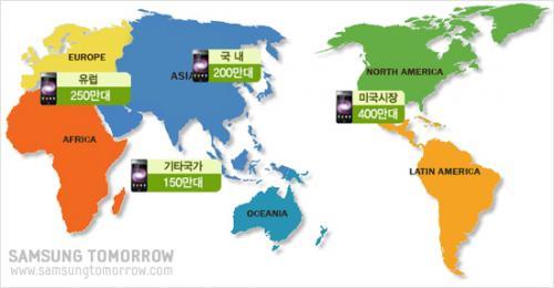 """Samsung Galaxy S"" Sales Figures - 2010: Area Wise Break-up"
