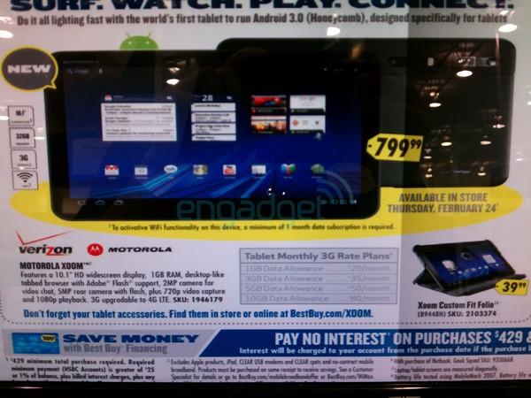 Motorola XOOM Best Buy Flyer