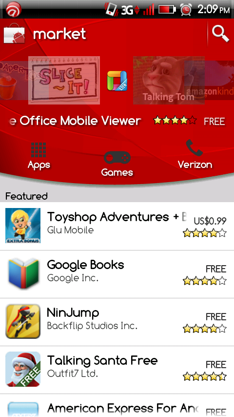 Android Market in Red Theme!