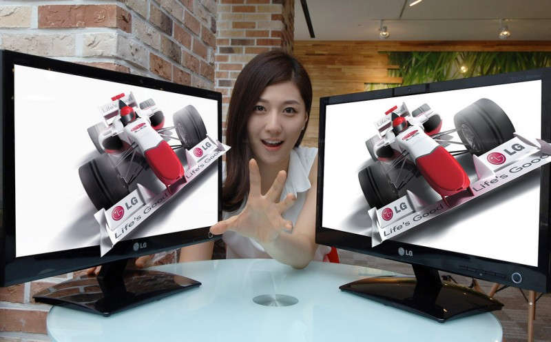 LG DX2000 3D Monitor with Eye-Tracking - Dual Setup