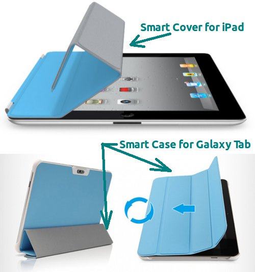 Smart Case - iPad Smart Cover clone for Galaxy Tab