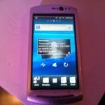 Sony Ericsson Xperia Neo V - Front View