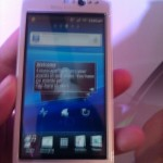 Sony Ericsson Xperia Neo V - Front View (Screen On)