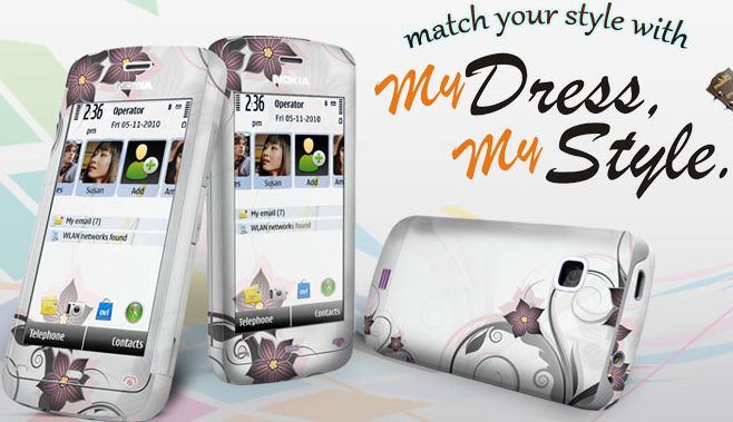 Dressmystyle - dress your mobile phone with colourful hand printed skins
