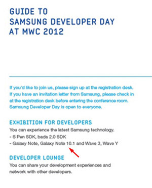 Galaxy Note 10.1 Hinted - Will be demoed at MWC