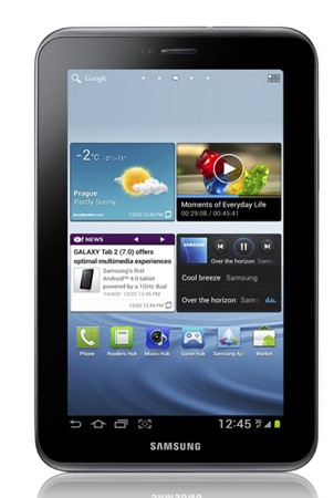 Samsung Galaxy Tab 2 Front View - India Price, Specs, Pictures