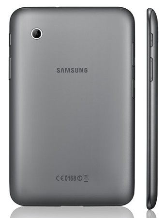 Samsung Galaxy Tab 2 Rear View - India Price, Specs, Pictures