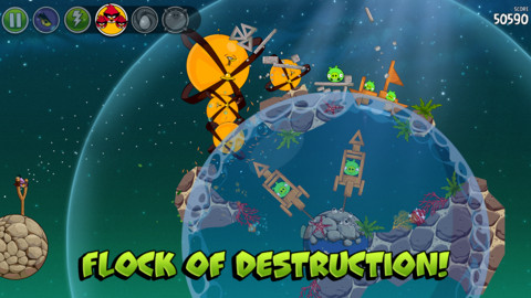 Angry Birds Space Remix iPhone & iPad game app