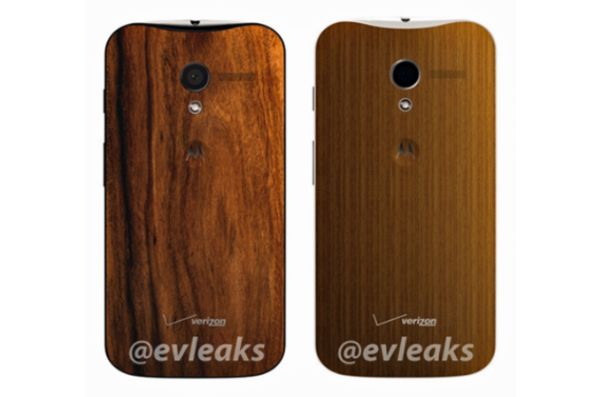 Motorola Moto X with Wooden Backs