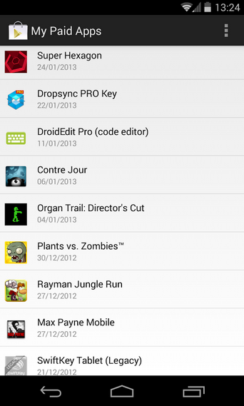 My Paid Apps - Android