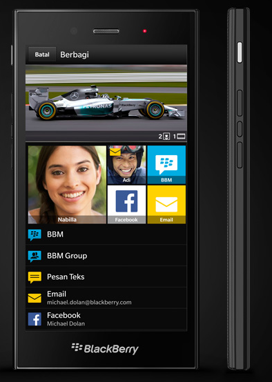 Blackbery Z3 Smartphone pictures
