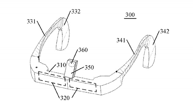 lenovo's patent for Google Glass like Device