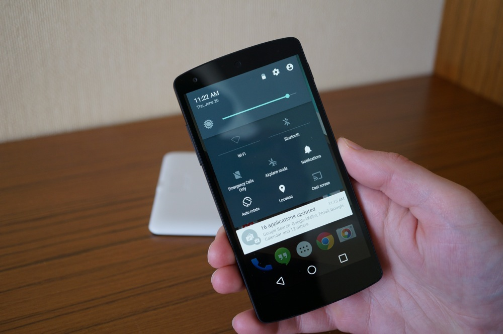 Android L - Settings Dialog