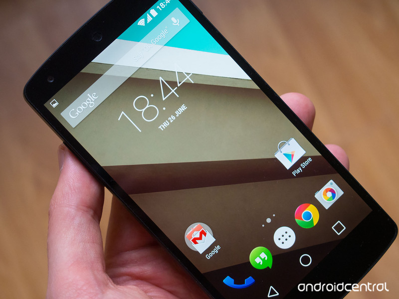 Android L - Homescreen image - clear and subtle
