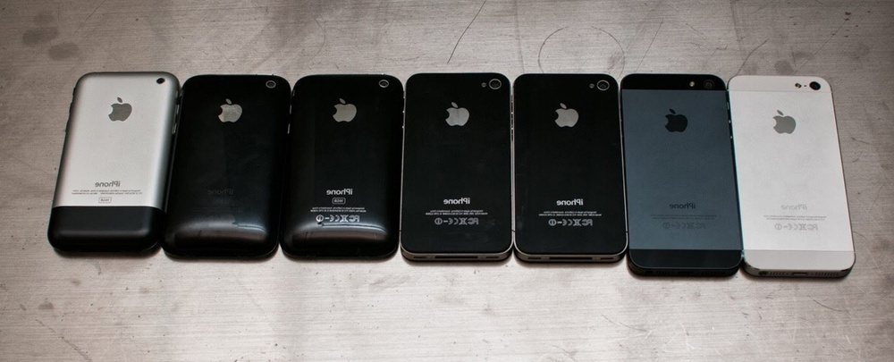 all the iphones ever made picture all 7 generations of apple iphone at one place 16565