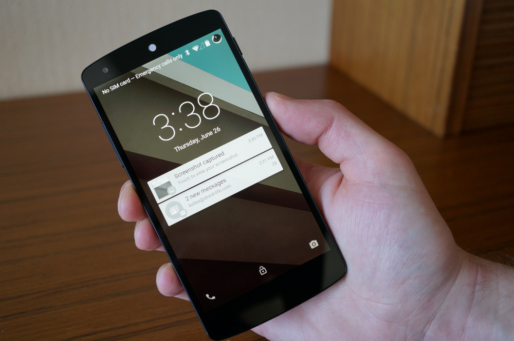 Android L Lockscreen with Notifications