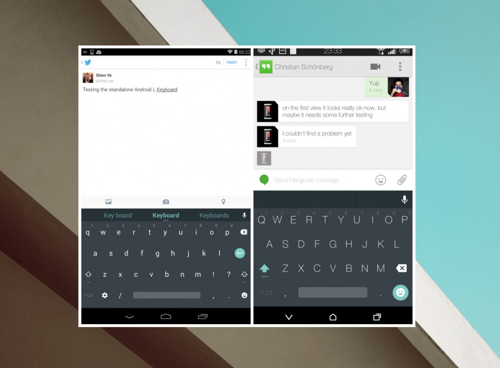 Android L Material Keypad
