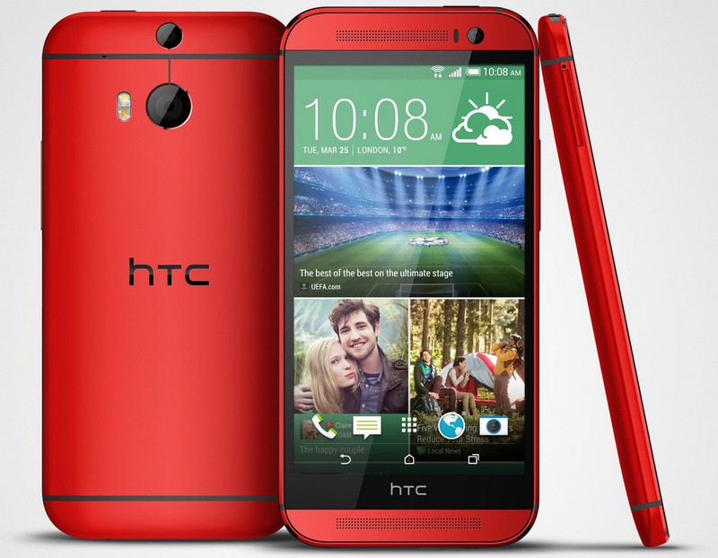 HTC One M8 red pics
