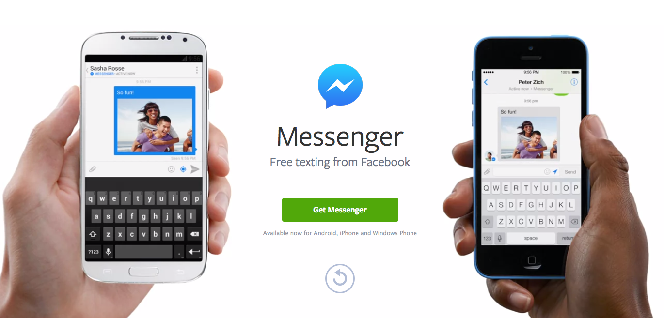 Facebook Messenger App in Use