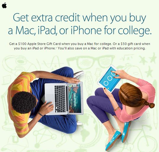 apple back to school 2014 deals