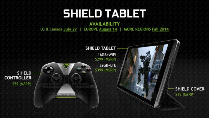 nvidia shield tablet with cover & controller pics