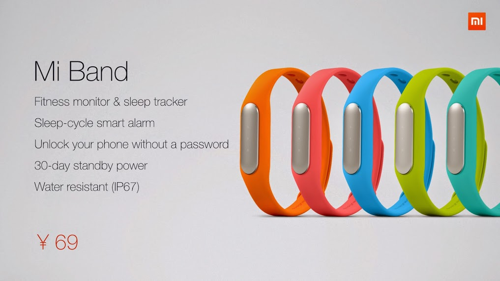 xiaomi Mi-Band colours