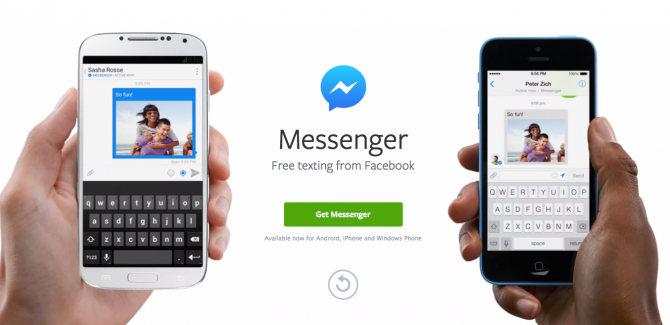 Facebook Messenger App in Use