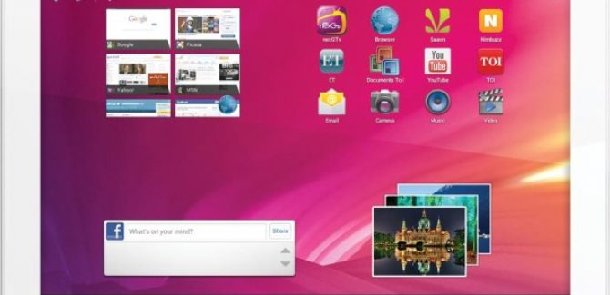 Videocon VT10 Tablet Pictures - Front View