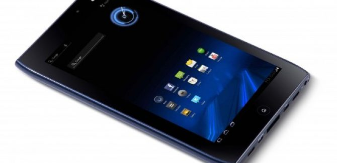 Acer Iconia A100 Landscape View