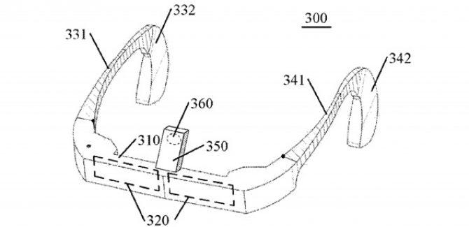 lenovo's patent for Google Glass like Device