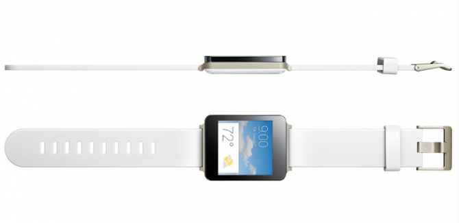 LG G Watch with Android Wear and Belt