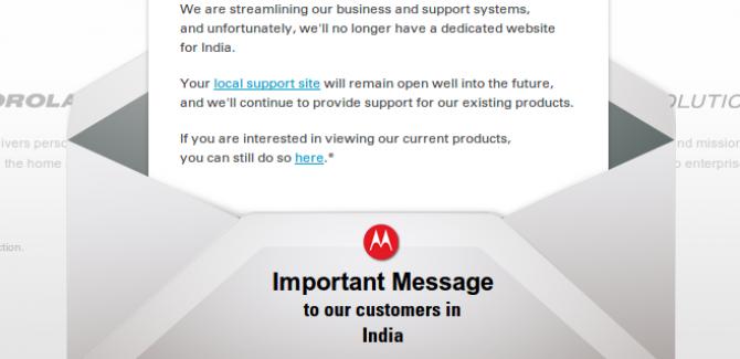 Motorola Mobility shuts down in India & Europe
