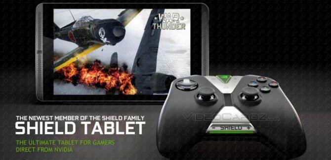 nvidia shield tablet & controller pics