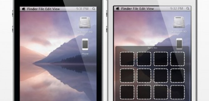 Mac OS X style Stacked windows in iPhone